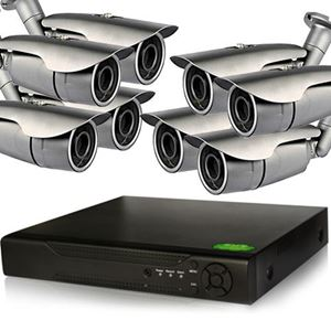 8 IP Bullet Camera Security System, 1.3MP IR Cameras (NVR8-8Pro2B)