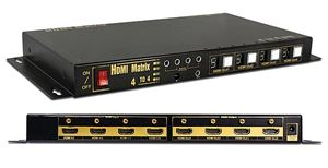 Professional 4 in 4 out (4 x 4) True HDMI Matrix Slim Size (OP-HKTM0404MH)