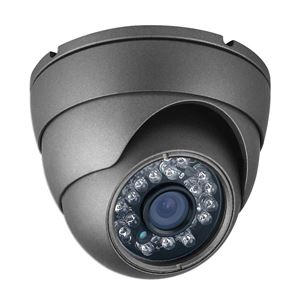 1000 TVL Outdoor IR Dome Security Camera 3.6mm Fixed Lens (CMT2412B)