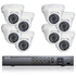 8 HD-TVI Dome Camera Security System