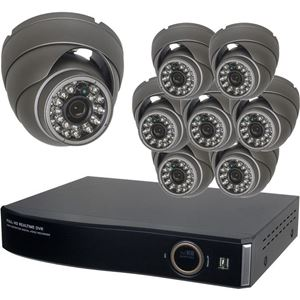 8 Dome HD-SDI Security Camera System kit (HD-SDI-CAM-DVR-08-PACK)