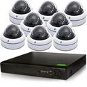 8 HD-CVI Complete Security IR Dome Camera system Vandalproof (CVI8-8Pro1D)