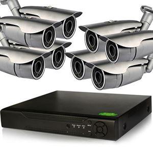 8 IP Bullet Camera Security System, 1.3MP IR Cameras (NVR8-8Pro2B)