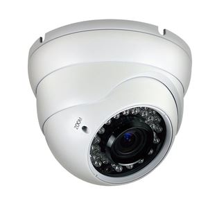 1000 TVL Outdoor IR Dome Security Camera 2.8-12mm Varifocal Lens (CMT2013)