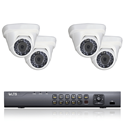 2MP HD-TVI 4 Dome Camera Security System