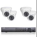 2MP HD-TVI 4 Dome Camera Security System